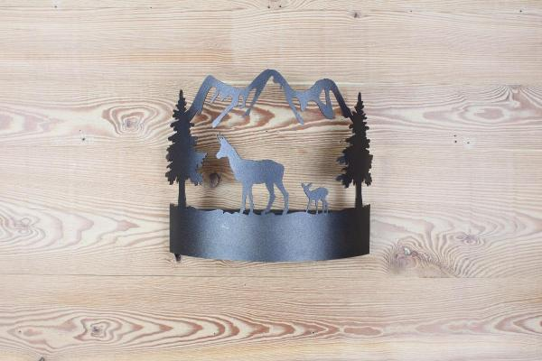 K026 - Chamois Whith Baby | FérArt Design