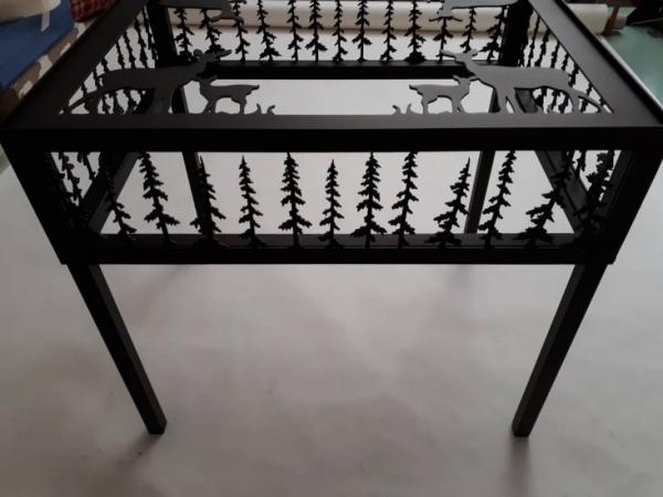 Tav000 - Tavolino Con Cristallo (Piccolo) | FérArt Design